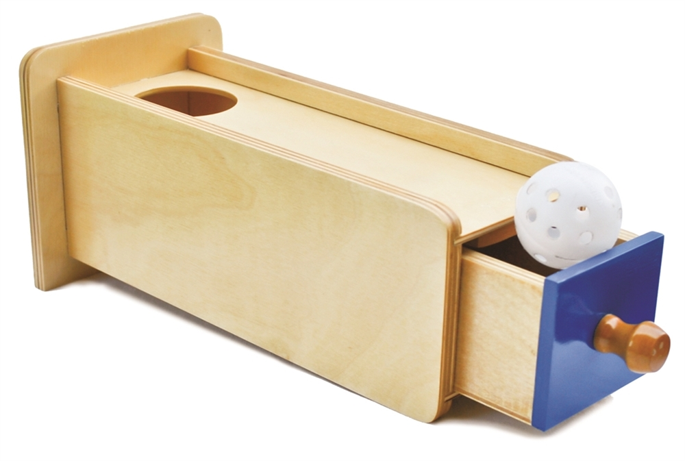 Montessori Object Permanence Box W// Drawer