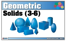 Geometric Solids Nomenclature Cards 3-6 Printed
