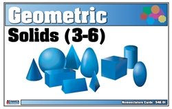 Geometric Solids Nomenclature Cards 3-6 (Printed and Laminated)