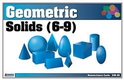 Geometric Solids Nomenclature Cards 6-9 Printed