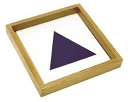 Wooden Tray and Cards for Geometric Demonstration Tray