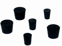 Rubber Stoppers, Solid, Size 00, 1 lb