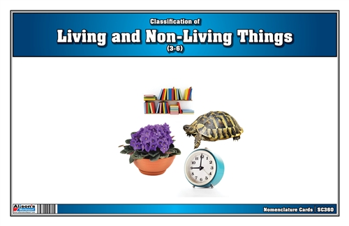Montessori Materials-Classification of Living and Non-living