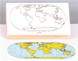 World Map Stamp