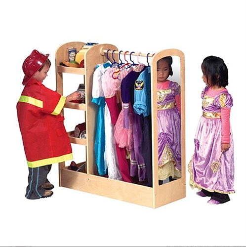 Montessori Materials See And Store Dress Up Center Natural