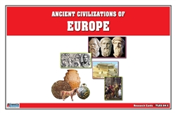 Timeline of Ancient Civilizations of Europe Research Cards