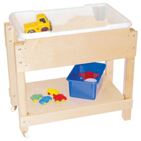 Petite Sand Water Sensory Table With Lid Shelf