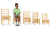 "Montessori Materials - Kydz Ladderback Chair Pair (Set of 2) 10"" High"