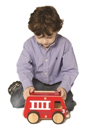 Montessori Materials - Plywood Fire Engine