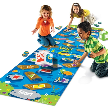 Montessori Materials Crocodile Hop Floor Game