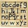 Letters for Small Movable Alphabets: Black, Print