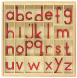 Red Small Movable Alphabets w/out Box