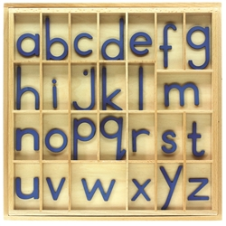 Blue Small Movable Alphabets without Box